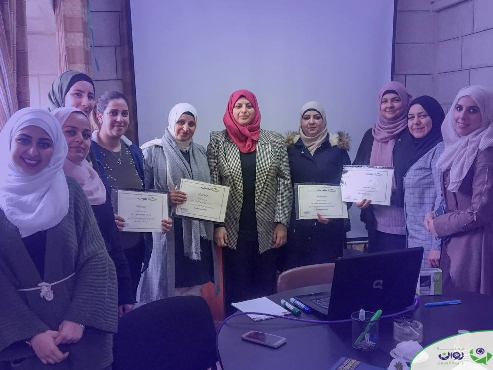 The end of the training workshop for private schools and UNRWA schools